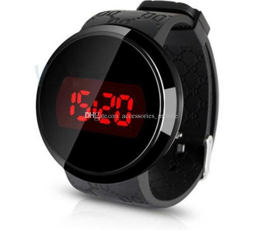 splendid Newest Hot Relogio Fashion Waterproof Mens Watch LED Touch Screen Date Silicone Clock Wrist Black Watch Electronic