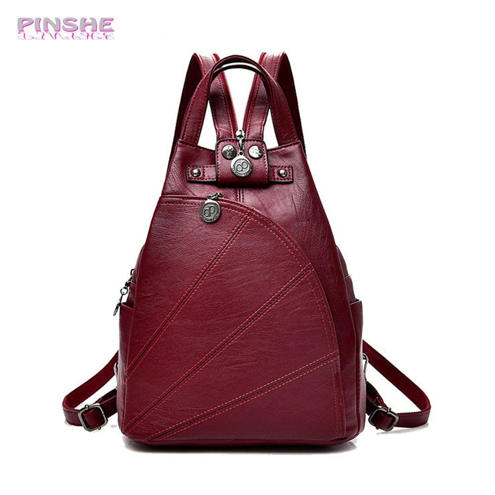 Fashion Leisure Women Backpacks Women S PU Leather Backpacks Female School  Shoulder Bags For Teenage Girls Travel Back Pack Book Bags Herschel  Backpacks ... 58d074c3112af