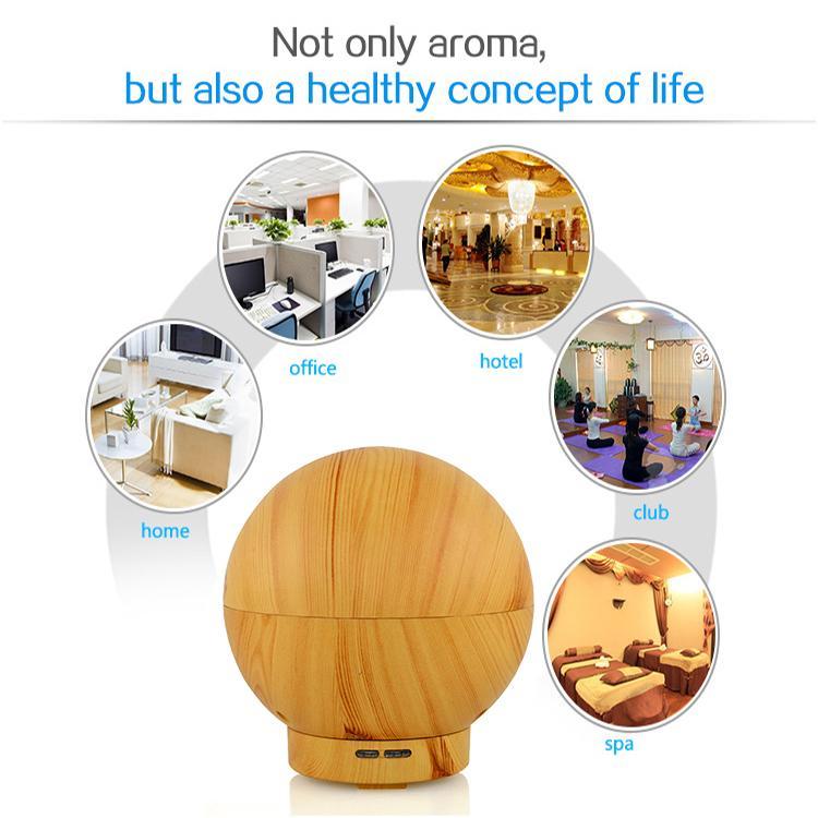 400ml US EU UK Plug Humidifier LED NIGHT LAMP air Fresh Refreshing Fragrance LAMP essential oil ultrasonic humidifier Aroma mist Diffuser