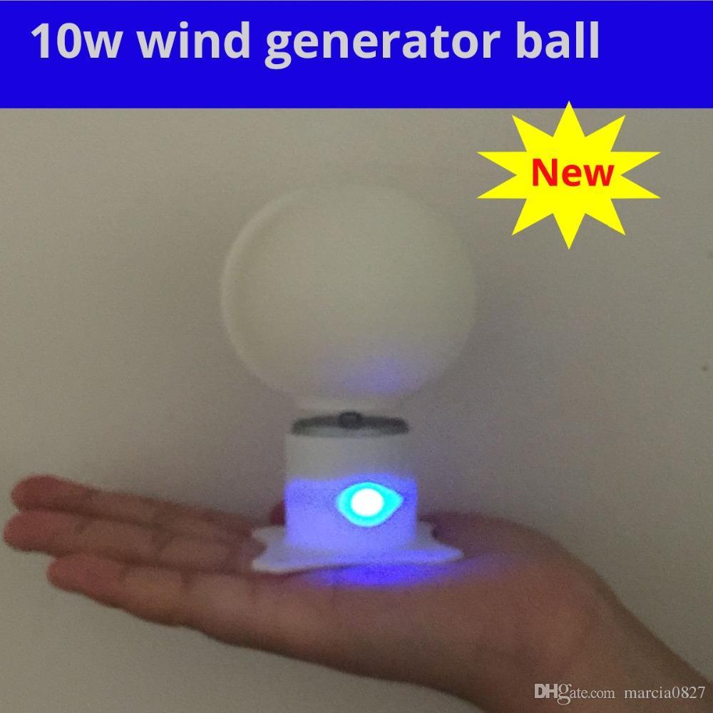 Micro Motor Small LED lights Vertical Axis Wind Turbine Generator full set  DIY lesson wind generator windmill