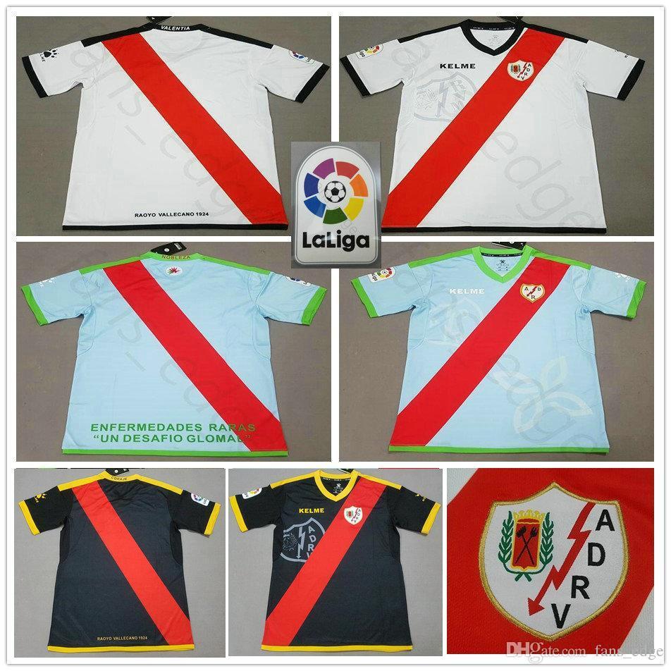 6265cd4787 Compre 2018 2019 Rayo Vallecano Camisa De Futebol TOMAS BAIANO F. BELTRAN  DORADO EMBARBA TRASHORRAS Alex Moreno Personalizado Casa Fora 18 19 Camisa  De ...