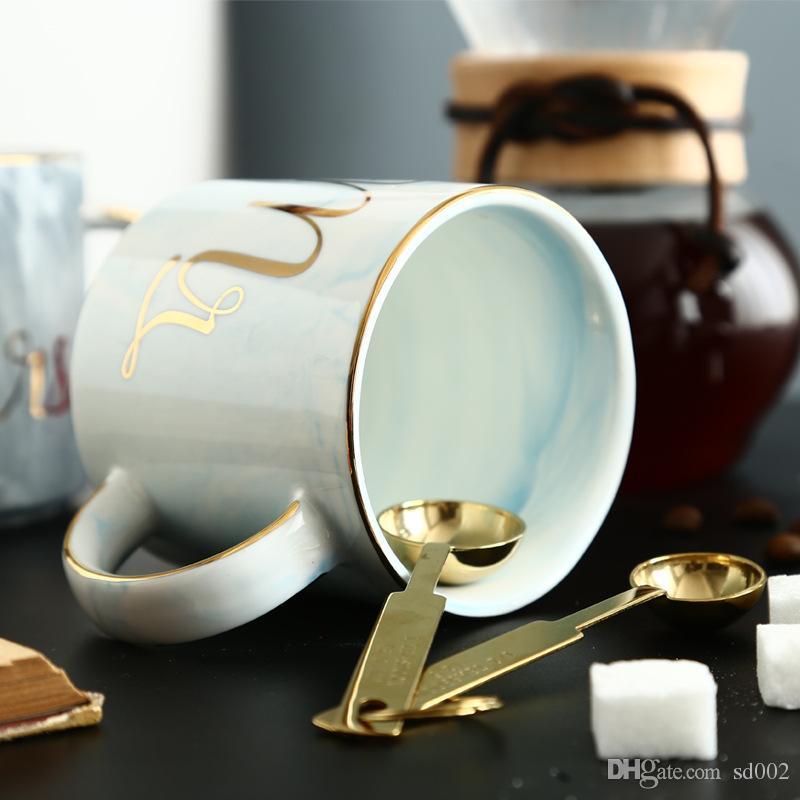Tazza in ceramica di marmo Tazza di caffè creativa Multi colore Mr And Mrs Tazze da tè 13 23se C R