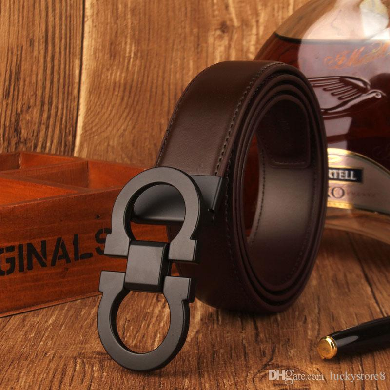 Hot sale!2018 Best Quality First Class real genuine Leather Mens designer For men leather belts for women strap Luxury Belts Alloy Buckle