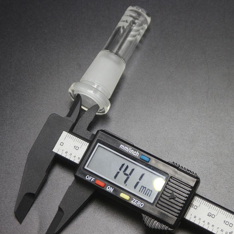 Longueur 60mm court verre Downstem Avec Dropdown 10 mm 14 mm Joint Cut Diffuseur Ash Catcher Pour l'huile Rigs verre Bong