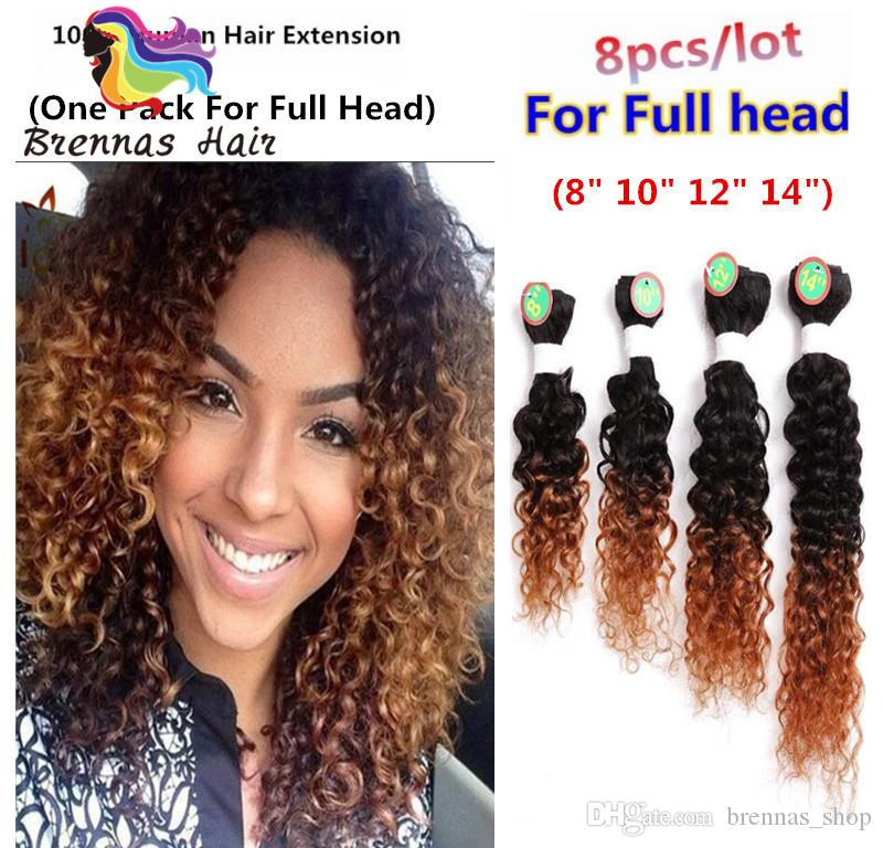 New African Curly Hair Extension Pre Pack Human Brazilian Hair Wefts