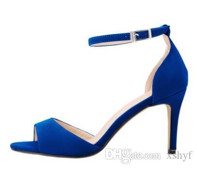 Tacones Más Tamaño 2018 42 Correa Medio Mujer 35 Mujeres Moda Gamuza Tacón De Sandalias Tobillo Delgados Zapatos Calientes Micro El EYW2I9DH