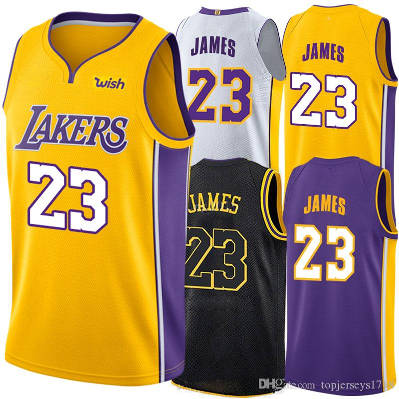 d2e7084a4 ... promo code for top quality 23 lebron james jersey los angeles 2018 james  basketball jerseys the