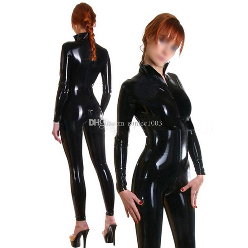 9db5f1f816c67 100% Pure Latex Sexy Catsuit Front Zipper for Women Rubber Fetish Bodysuit  Party Wear Tight Jumpsuit Latex Catsuit Sexy Lingerie Latex Fetish Online  with ...
