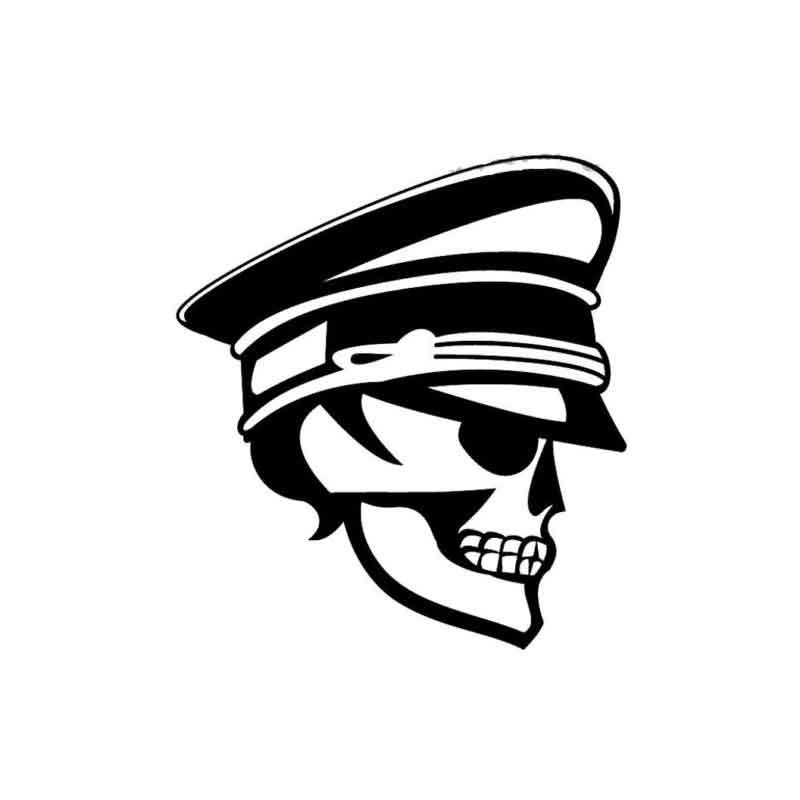 bd5236706a8 2019 Skull Police Car Sticker Vinyl Car Packaging Accessories Patterned  Body Decals From Xymy767