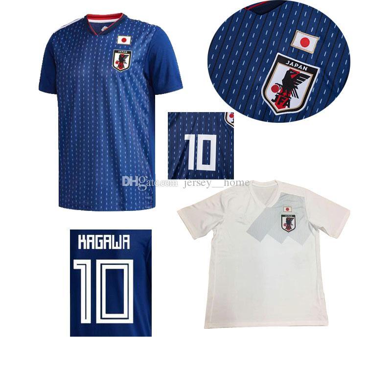 Copa Mundial 2018 Japón Soccer Jersey 18 19 Japón Local Azul Visitante  Fútbol Blanco Camisa   10 KAGAWA   9 OKAZAKI   4 HONDA Uniforme De Fútbol  Por ... 35e34a9b46176