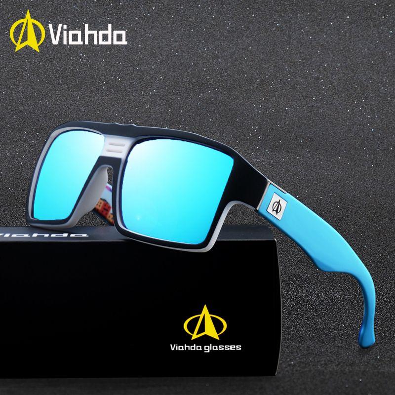 fd5ae496ea2c7 Compre Viahda New Óculos De Sol Dos Homens Do Sexo Masculino Legal Esporte  Ao Ar Livre Óculos De Sol Para Condução Óculos Gafas De Sol Hombre De  Gocan, ...