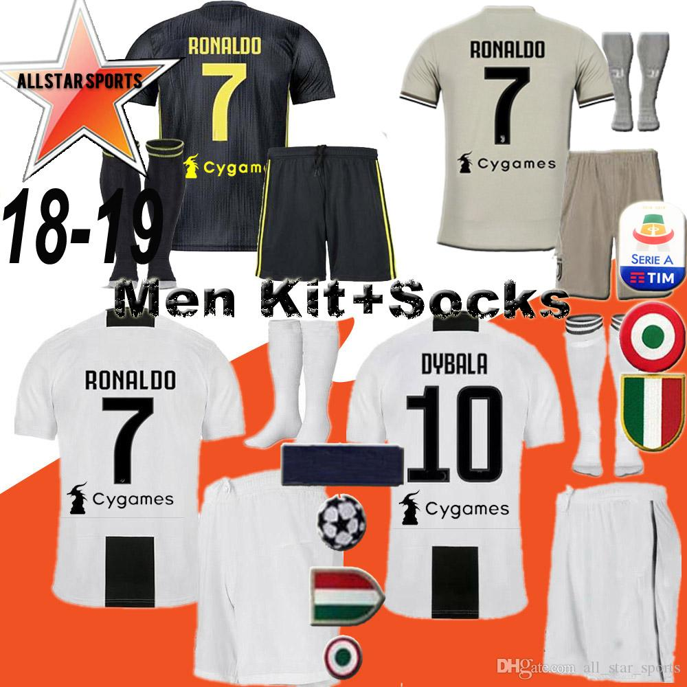 0376afe2b2d 2019 2019 New  7 RONALDO JUVENTUS Soccer Jersey 18 19 JUVE 2018 Home Away  10 DYBALA BUFFON Football Shirt Suit CRISTIANO Uniform Team From  All star sports