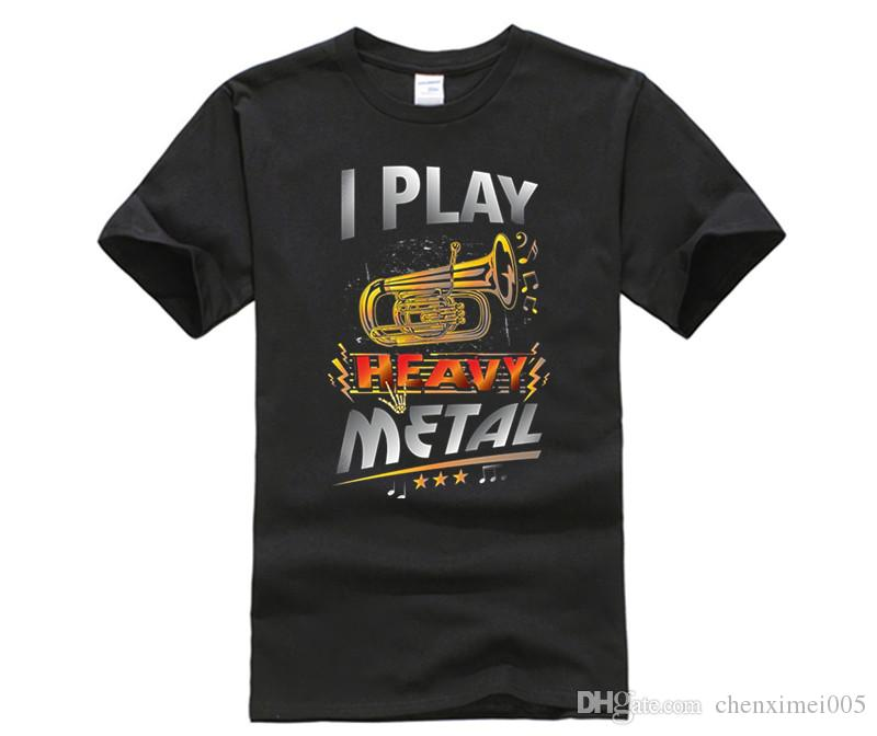 dfbaa20d26a5f Compre Juego Heavy Metal Tuba Camiseta Funny Quote Pun Horn Player A  14.21  Del Chenximei005