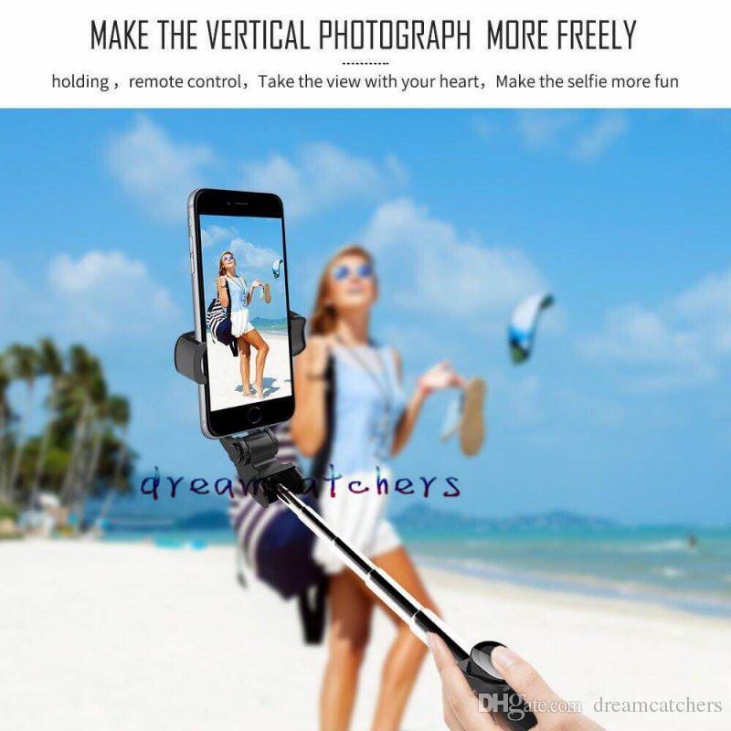 Faltbare Mini Bluetooth Selfie Stick Stativ Selfie Einbeinstative Handheld Erweiterbar Mini Reisen Foto Kamera für iPhone Samsung Smartphone.