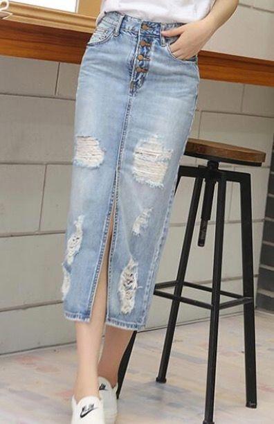 2018 Весна Лето Осень мода женщины длинные джинсовые юбки повседневная плюс размер макси юбки старинные джинсы Хем Сплит карандаш Юбки