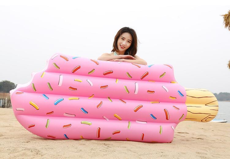 Лето плавание надувные поплавки спасательный круг с плавающей кроватью мороженое хлеб три человека 213 см ПВХ Водные виды спорта