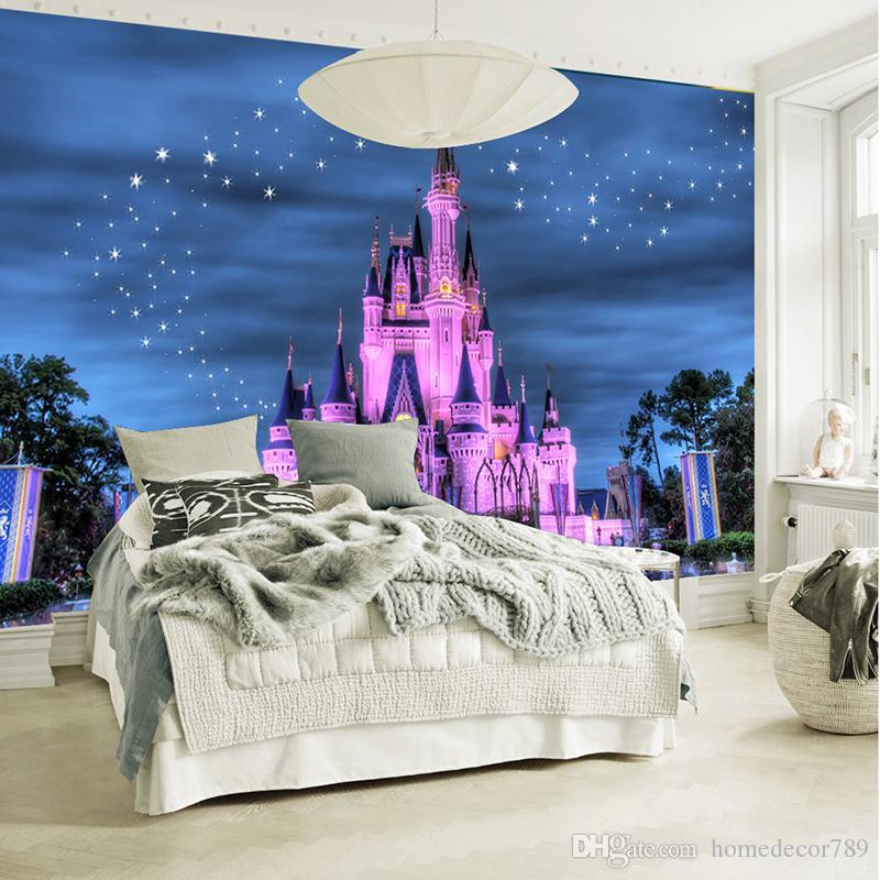 Custom 3D Photo Wallpaper For Boys Girls Kids' Room Bedroom Sofa Backdrop Wall Papers 3 D Cartoon Castle Starry Sky Home Decor