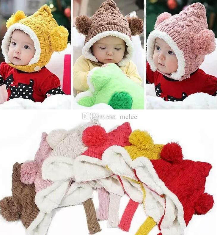 95d78cd75bc76 Compre Navidad De Los Niños De Navidad Crochet Gorrita Tejida Para Bebé  Niño Niña Niño Gorro De Invierno Orejas Lindas Gorras Infantil De Navidad  Cálido ...