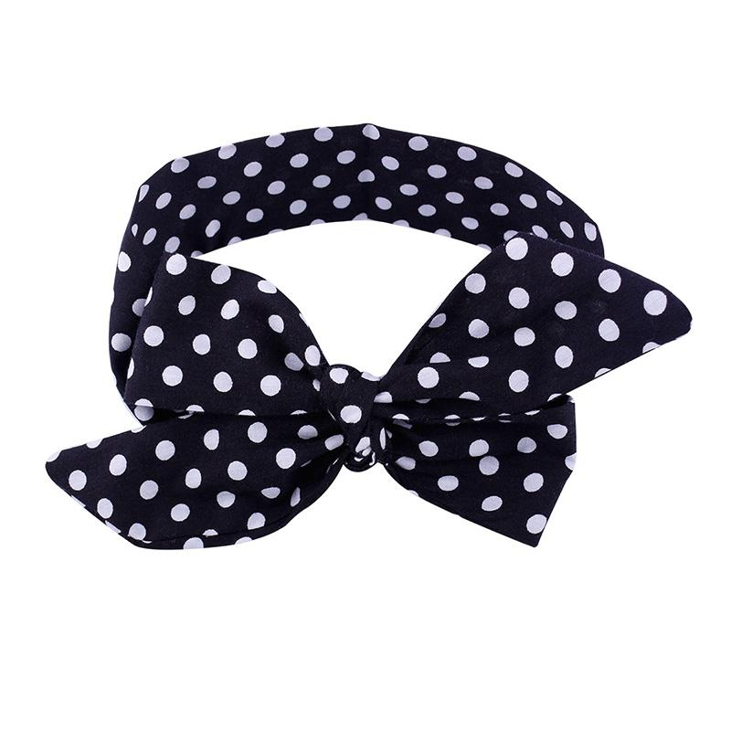 Big Bowknot Baby Headband Cute Baby Girl Bow Hair Bands Headwrap Dot Cotton Turban Hairband