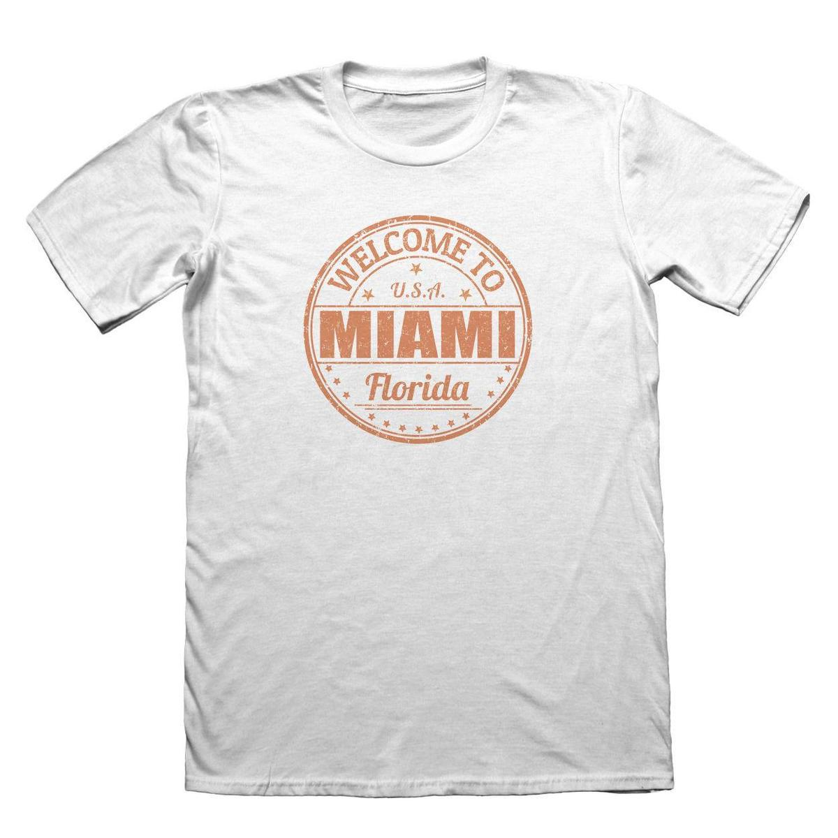 Miami Florida Usa Design T Shirt Funny Mens Gift 5219 Awesome T