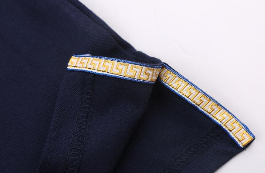 Venta al por mayor de los hombres de algodón de gran tamaño de manga corta camiseta de verano solapa polo camisa envío gratis