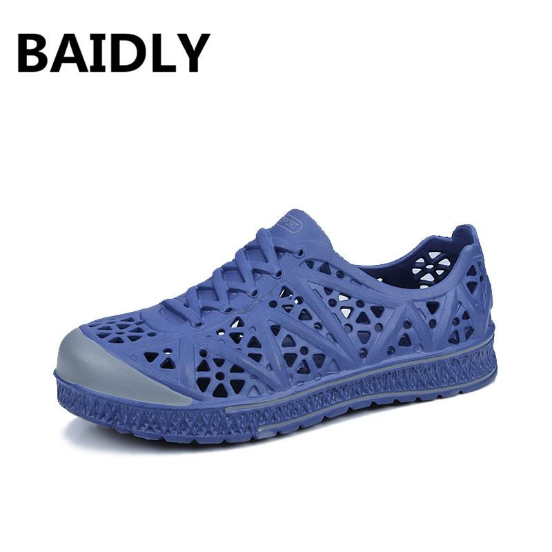 BAIDLY Summer Men S Garden Clogs Sandals Hollow Out Beach Breathable  Sandals Light Casual Shoes Soft Comfortable Water Slipper White Wedges  Cheap Shoes For ... 06b58d7151d