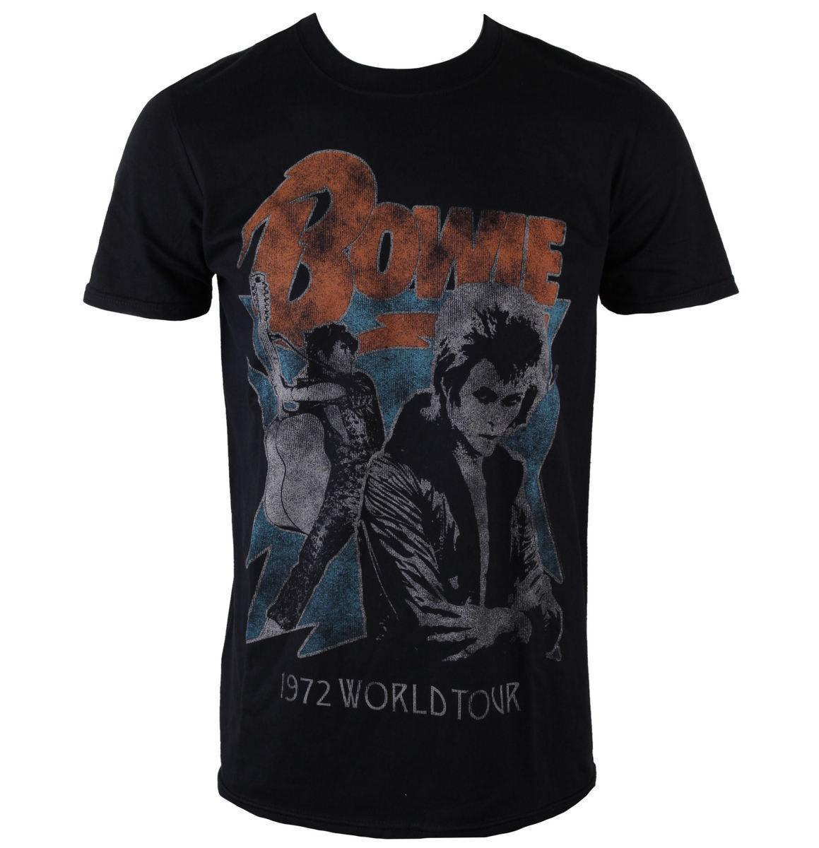 5169b94edab Männer Shirt David Bowie 1972 World Tour Black Rock Off Größe Xxl Mens T  Shirt Cool Tshirt Designs From Zhangjingxin26