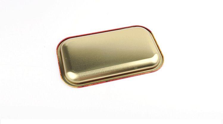 Metal Meyve Tepsisi Ham Tepsi Teneke Plaka Vaka Mini Metal Makine Tütün Haddeleme Tepsi Handroller Sigara Saklama Kutusu 18 * 14 cm DHL Ücretsiz HH7-384