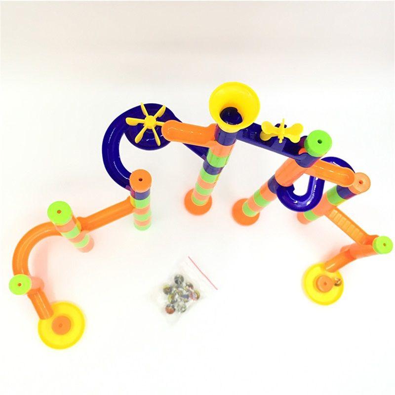 Children Intelligence Toy DIY Ball Bearing Orbiting Block Learning Education Toys Three Dimensional Blocks Motivate Creativity 6 5yc W