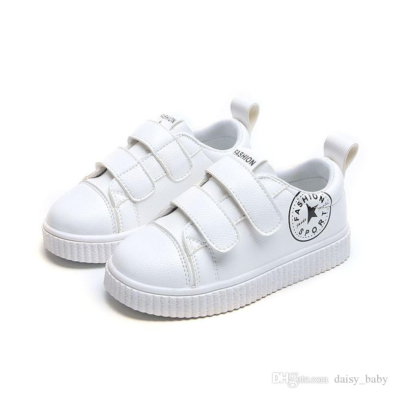 0dfff1ed0578 Unisex Children Casual Shoes Black White Boys Girls PU Breathable Sport Shoes  Kids School Shoes  13 Size Autumn 2018 Sperry Kids Shoes Toddler Boy Casual  ...