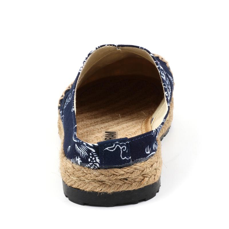 Chinese Style Women Slippers Dragon Totem Women Shoes Hemp Linen Canvas Beach Shoes Patchwork Brand Designer Female SNE-191