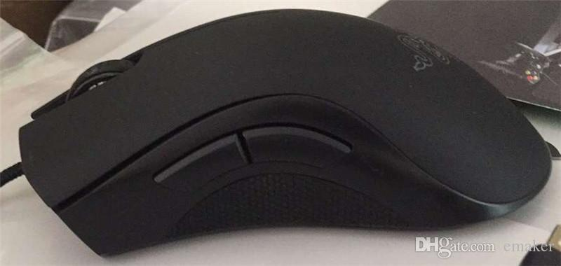 Razer Deathadder Chroma USB Wired Optical Computer Gaming Mouse 10000 ppp Sensor óptico Mouse Razer Mouse Deathadder Ratones para juegos nuevo