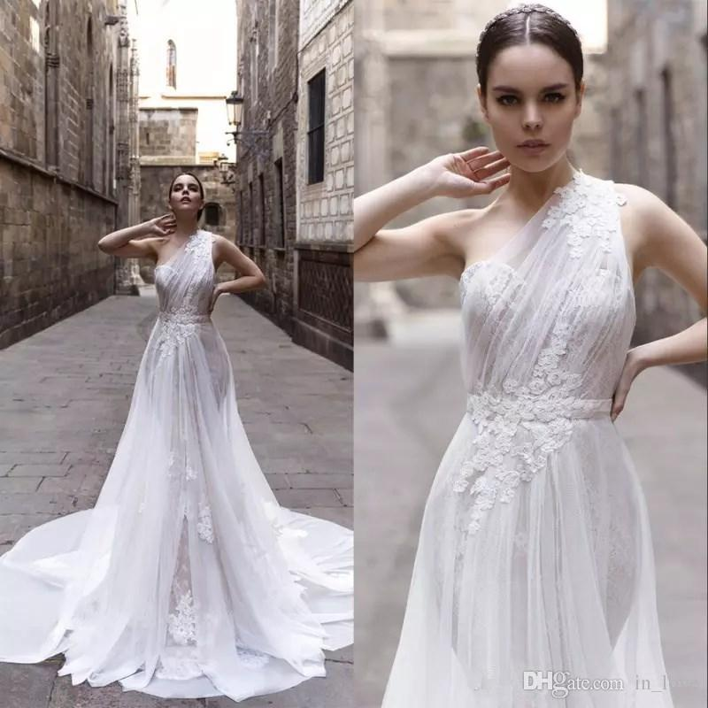 Discount One Shoulder Wedding Dresses 2019 New Modern Design ...