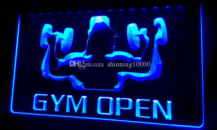 Ls b gym open gymnasium room new neon light sign decor