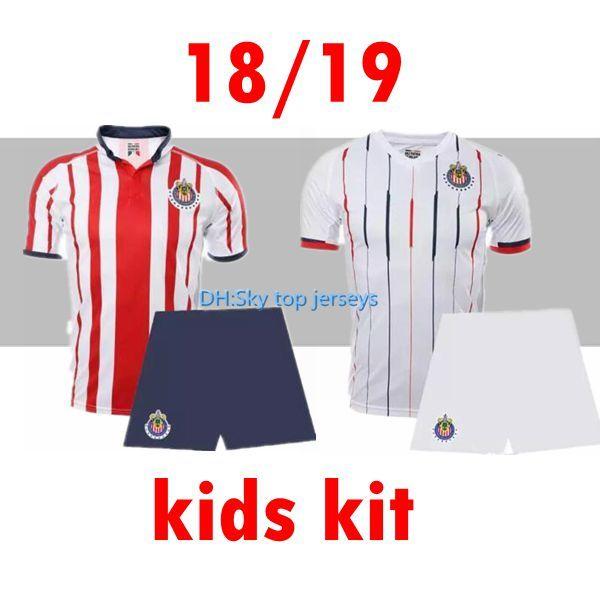 the best attitude c620a c5e7e 18 19 Chivas club soccer jerseys kids Chivas soccer shirt 2018 2019 O.BRAVO  REYNA A.PULIDO Mexico Football Shirts