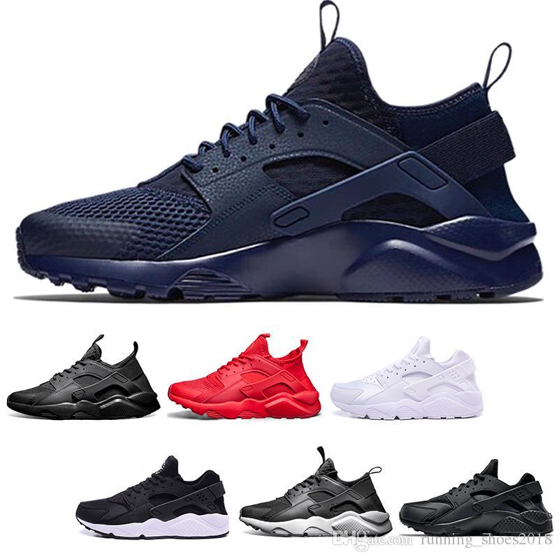 1ea6ab366b84 New Huarache Ultra 4.0 1.0 Men Women Running Shoes Triple Black ...
