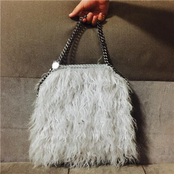 New Winter Fluffy Shaggy Deer Falabella Bag 25cm Small Size Crossbody  Stella Handbag Falabella Bag Online with  114.98 Piece on Junjietrade168 s  Store ... f4c57596ee039