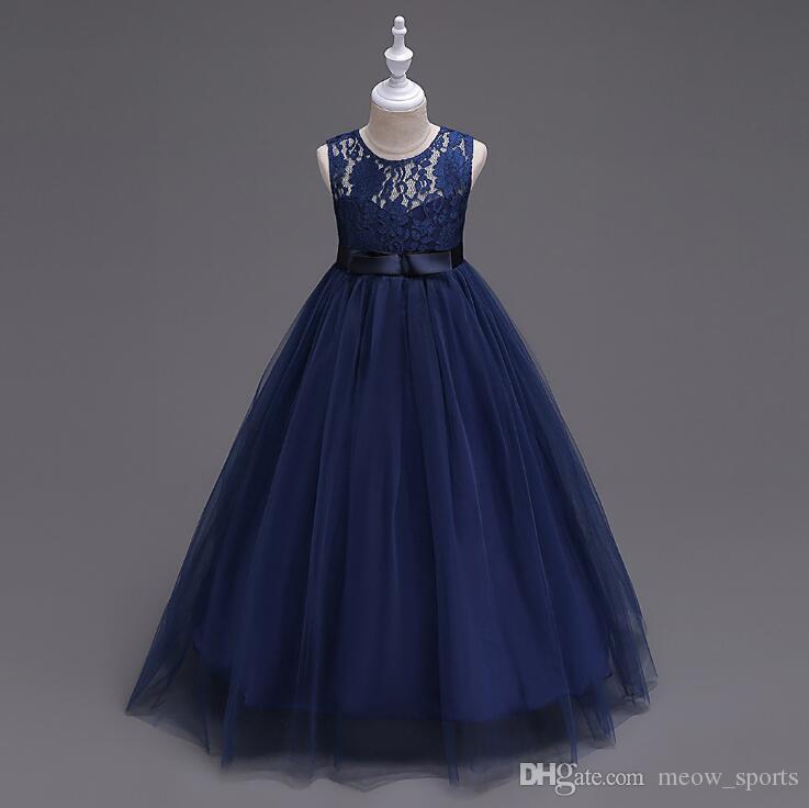 f561ac95281d 2019 Girls Teenage Birthday Party Dress Elegant Floral Princess Ball ...