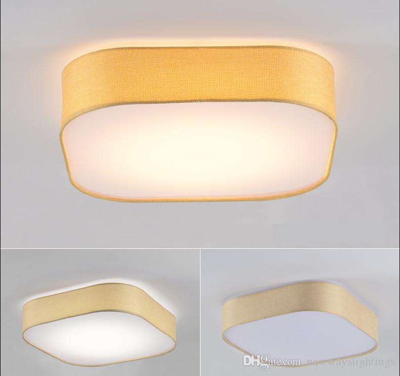 Nordic absorb dome light, bedroom room warm LED to absorb dome light study American cloth art square lamps lanterns commercial lighing
