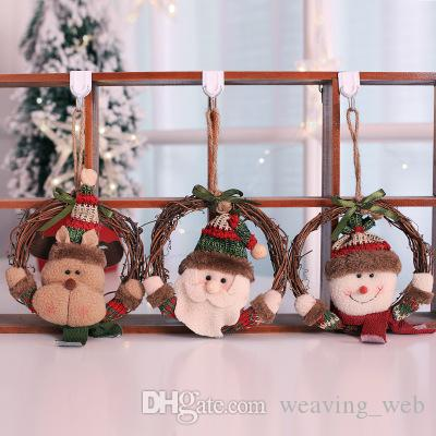 christmas tree ornaments wreaths hanging santa clause decoration window door hanging garland christmas for home decor cheap christmas decoration cheap - Hanging Garland Christmas Decorations