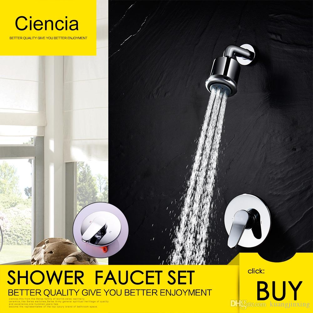 Bathroom Faucet Set with Shower Arm And 5 Spray Shower Head Brass ...