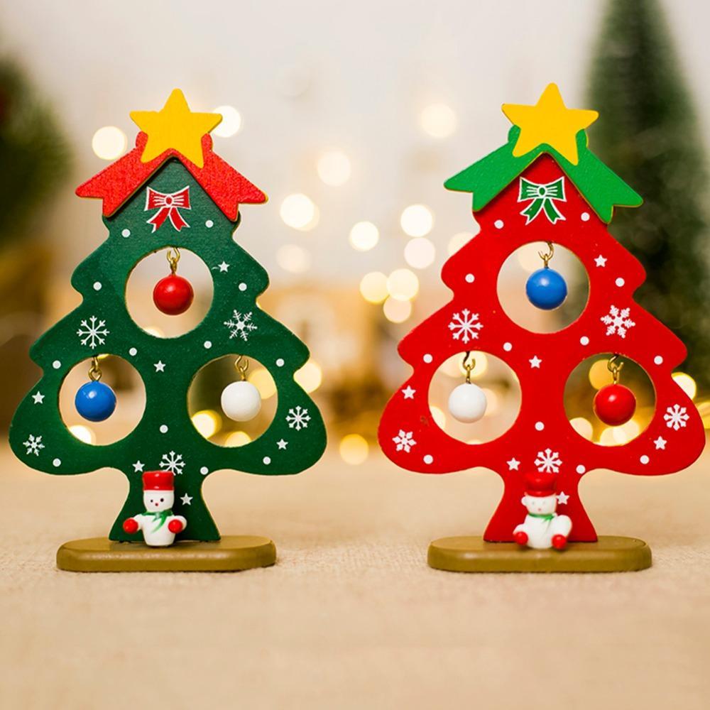 Christmas Tree Small Ornament Mini Painted Christmas Tree ...