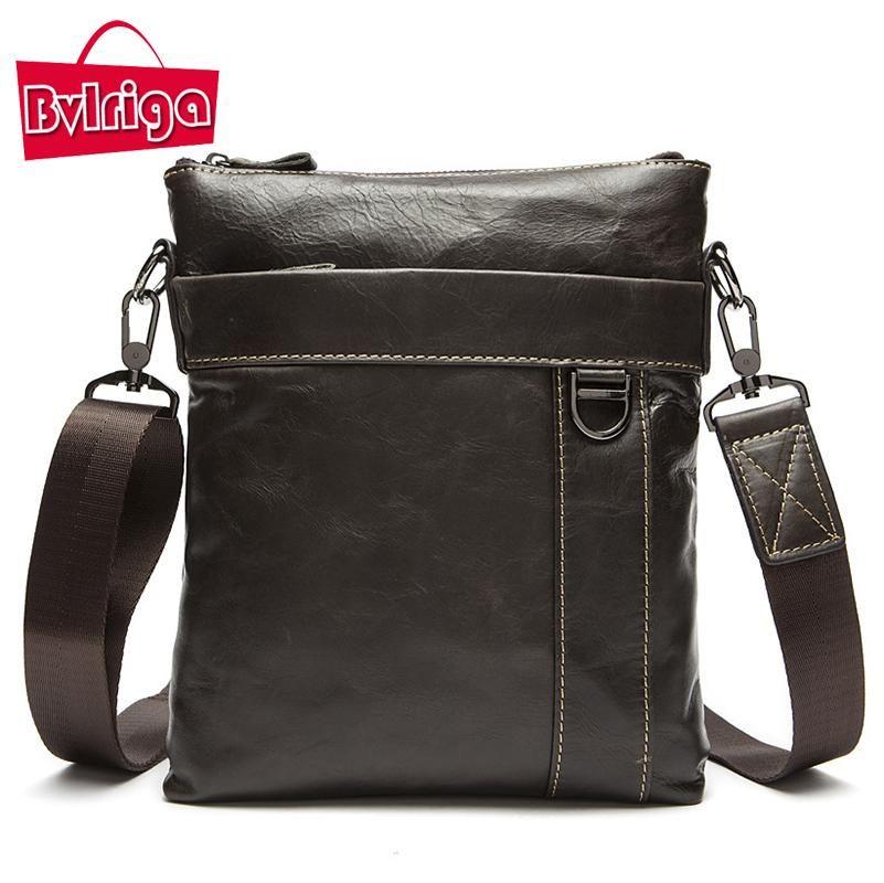 130d8ec65607 Wholesale BVLRIGA Genuine Leather Bag Men Bag Travel Bag Men S Briefcase  Vintage Men Shoulder Messenger Bags Famous Brands Dollar Pric Western  Purses ...