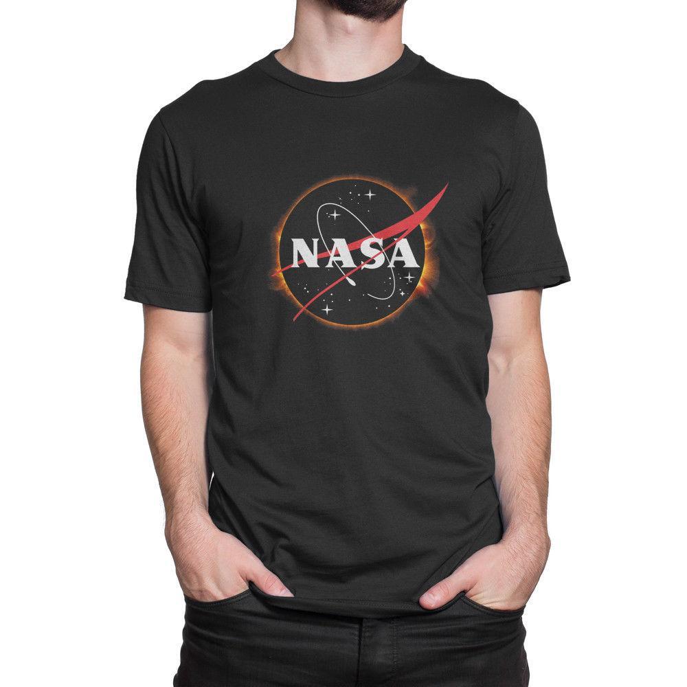 Grosshandel Nasa Solar Eclipse Logo Herrenbekleidung T Shirts T