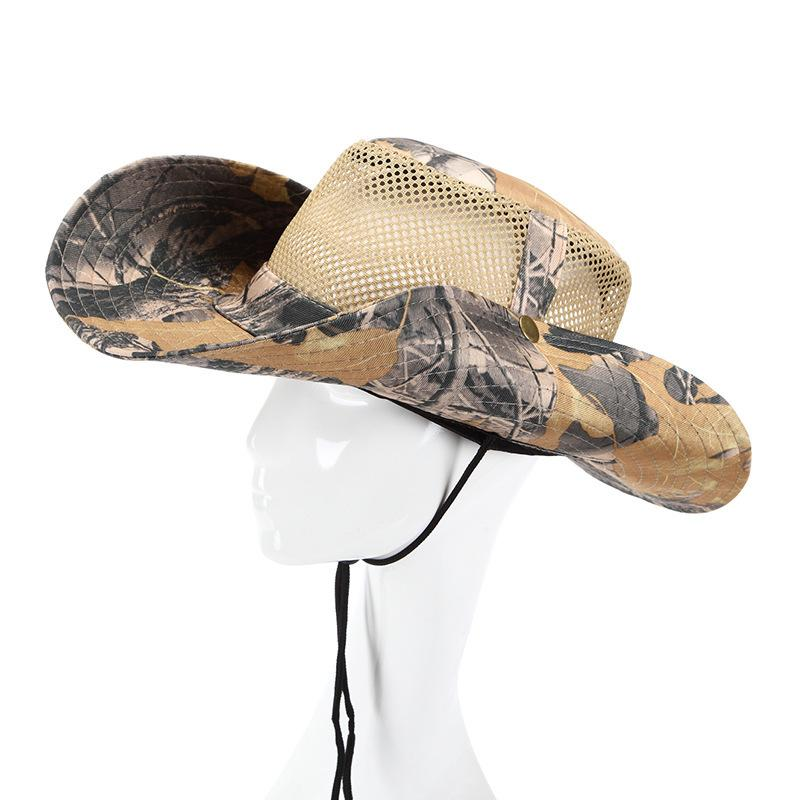 314c430f28d 2019 Camouflage Army Style Fishing Cap Bucket Hat Fisherman Camo Ripstop  Jungle Bush Hats Boonie Wide Brim Sun Caps From Fgfq