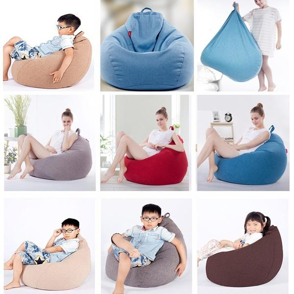 Latest Oversized Cozy Lounger Bean Bag Chair Storage Bags Washable