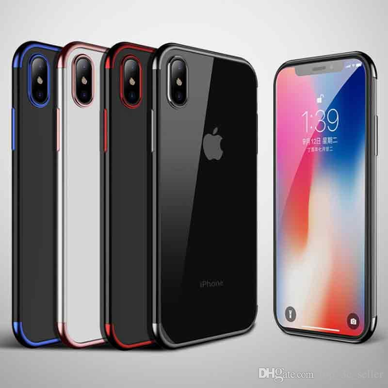 competitive price 72256 cd011 High Quality And High Transparent Three-stage Electroplating For iPhone 9  For iphone 8 plus X 6 For samsung galaxy s9 plus S8 case