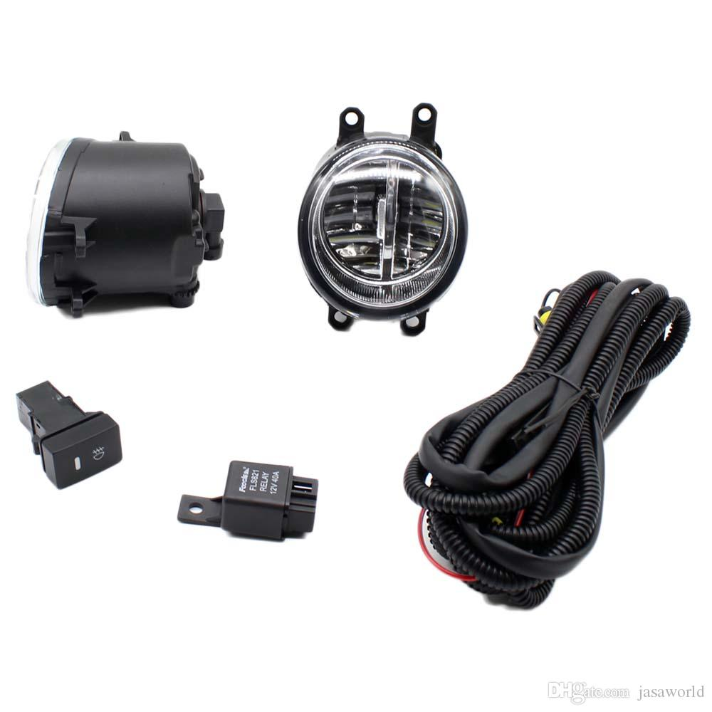 For Toyota Yaris 2006 2013 H11 Wiring Harness Sockets Wire Connector Socket Connectors Switch 2 Fog Lights Drl Front Bumper Led Lamp Car In Uk From
