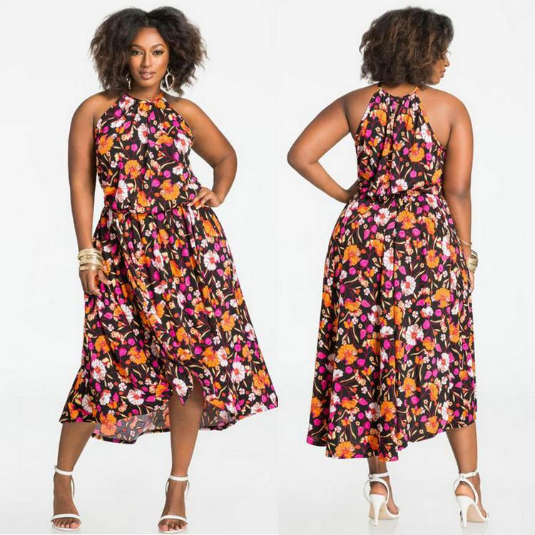 12570ba8283b Sexy Plus Size XL-4XL Sleeveless Print Women's Dress 2018 Summer Dress  Ladies Fashion Casual Harness Dress Hot Sale Vest Dresses