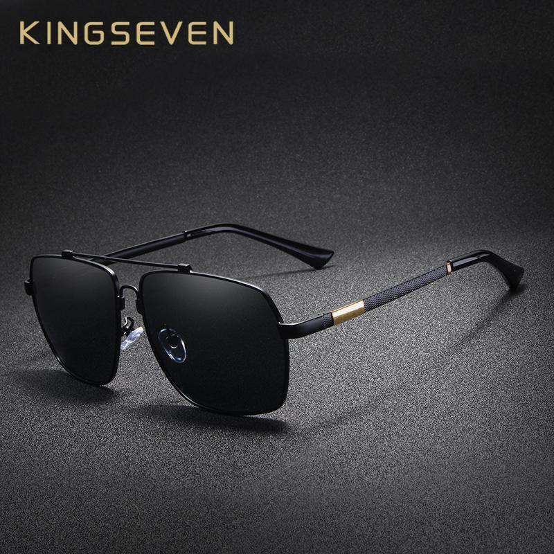 8e9ae6c3e Compre X Kingsve Marca Polarizada Óculos De Sol Para Homens De Alumínio  Oculos Moda Masculina Praça Óculos De Condução De Metal Óculos De Sol De  Memória De ...